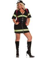 Ms. Blazin' Hot Adult Plus Costume - 1X/2X