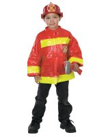 Red Firefighter Child Costume - Small (5-7)