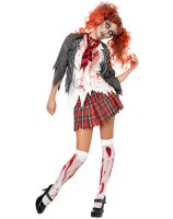 Highschool Horror School Girl Adult Costume - Medium