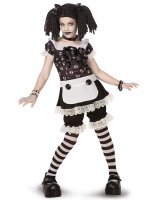 Gothic Rag Doll Child - Tween Costume - Medium (8-10)