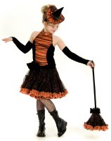 Orange Tutu Witch Child Costume - Medium (8)
