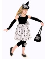 Polka Dot Witch Child Costume