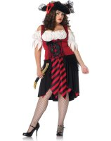 Crimson Pirate Adult Plus Costume