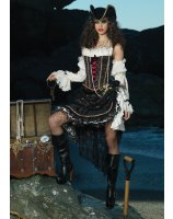 Deluxe Sultry Swashbuckler Adult Costume