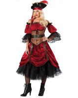 Swash Bucklin' Scarlet Elite Adult Costume - Large