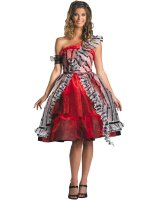 Alice In Wonderland - Alice Red Court Dress Adult Costume - Small (4-6)
