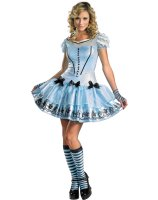 Alice In Wonderland Movie - Sassy Blue Dress Alice Adult Costume - Small (4-6)