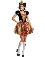 Alice In Wonderland Movie - Sassy Red Queen Adult Costume - Small (4-6)
