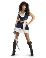 Pirates Of The Caribbean - Jack Sparrow Sassy Adult Costume - Small (4-6)