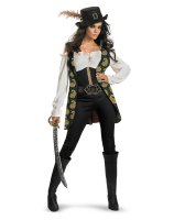 Pirates Of The Caribbean - Angelica Deluxe Adult Costume - Small (4-6)