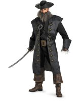 Pirates Of The Caribbean - Black Beard Deluxe Adult Costume - Plus (50-52)