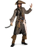 Pirates Of The Caribbean - Captain Jack Sparrow Theatrical Adult Costume - Plus (50-52)
