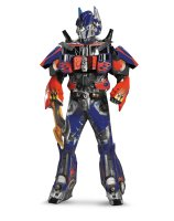 Transformers 3 Dark Of The Moon Movie - Optimus Prime 3D Theatrical with Vacuform Adult Costume - X-Large (42-46)
