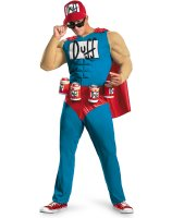 The Simpsons - Duffman Classic Muscle Adult Costume - Plus (50-52)