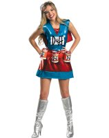 The Simpsons - Duffwoman Deluxe Adult Costume - Small (4-6)