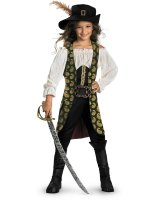 Pirates of the Caribbean 4 On Stranger Tides - Angelica Deluxe Child Costume - Medium (7/8)