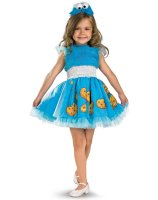 Sesame Street - Frilly Cookie Monster Toddler - Child Costume - Toddler (3T/4T)