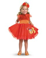 Sesame Street - Frilly Elmo Toddler - Child Costume - Toddler (3T/4T)