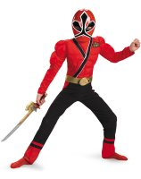 Power Rangers Samurai - Red Ranger Muscle Child Costume