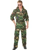 Camoflage Jumpsuit Plus Adult Costume