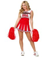 Cheerleader USA Adult Costume - Large