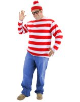 Where's Waldo Plus Adult Costume - XXL (50-52)
