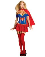 Justice League - Supergirl Corset Adult Costume - X-Small