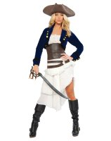 Colonial Pirate Adult Costume - Small