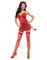 Glitter Fever Devil Adult Costume