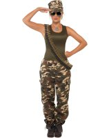 Khaki Camo Lady Adult Costume - Small