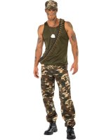 Khaki Camo Guy Adult Costume - Large