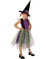 Light-Up Rainbow Witch Child Costume - Large