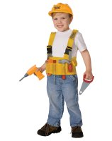 Construction Worker Child Costume Kit