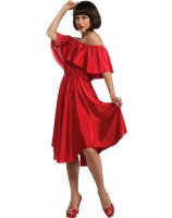 Saturday Night Fever Red Dress Adult Costume - One-Size (Standard)