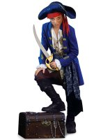 Blue Pirate Boy Child Costume - Small (4/6)