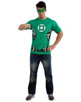 Green Lantern Male T-Shirt Adult Costume Kit - Large