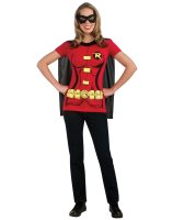 Robin Female T-Shirt Adult Costume Kit - Medium