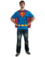 Superman T-Shirt Adult Costume Kit - Medium