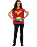 Wonder Woman T-Shirt Adult Costume Kit - Small