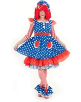 Raggedy Ann Deluxe Adult Costume - Small