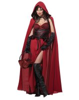 Dark Red Riding Hood Adult Costume - Small
