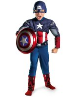 The Avengers Captain America Classic Muscle Chest Child Costume - 7-8