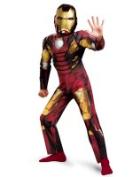 The Avengers Iron Man Mark VII Classic Muscle Chest Costume - 10-12