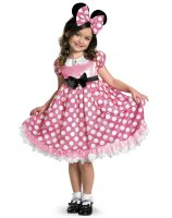 Disney Mickey Mouse Clubhouse Pink Minnie Mouse Glow in the Dark Child Costume - 7-8