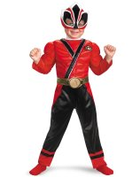Power Rangers Red Samurai Ranger Muscle Chest Child Costume