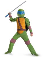 Teenage Mutant Ninja Turtles Leonardo Animated Classic Muscle Child Costume