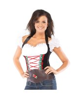Beer Girl Bustier Adult Costume - Medium