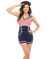 Pin Up Sailor Adult Costume - Small/Medium