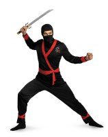 Ninja Master Adult Plus Costume - XX-Large (50-52)