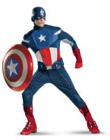 The Avengers Captain America Elite Adult Plus Costume - XX-Large (50-52)